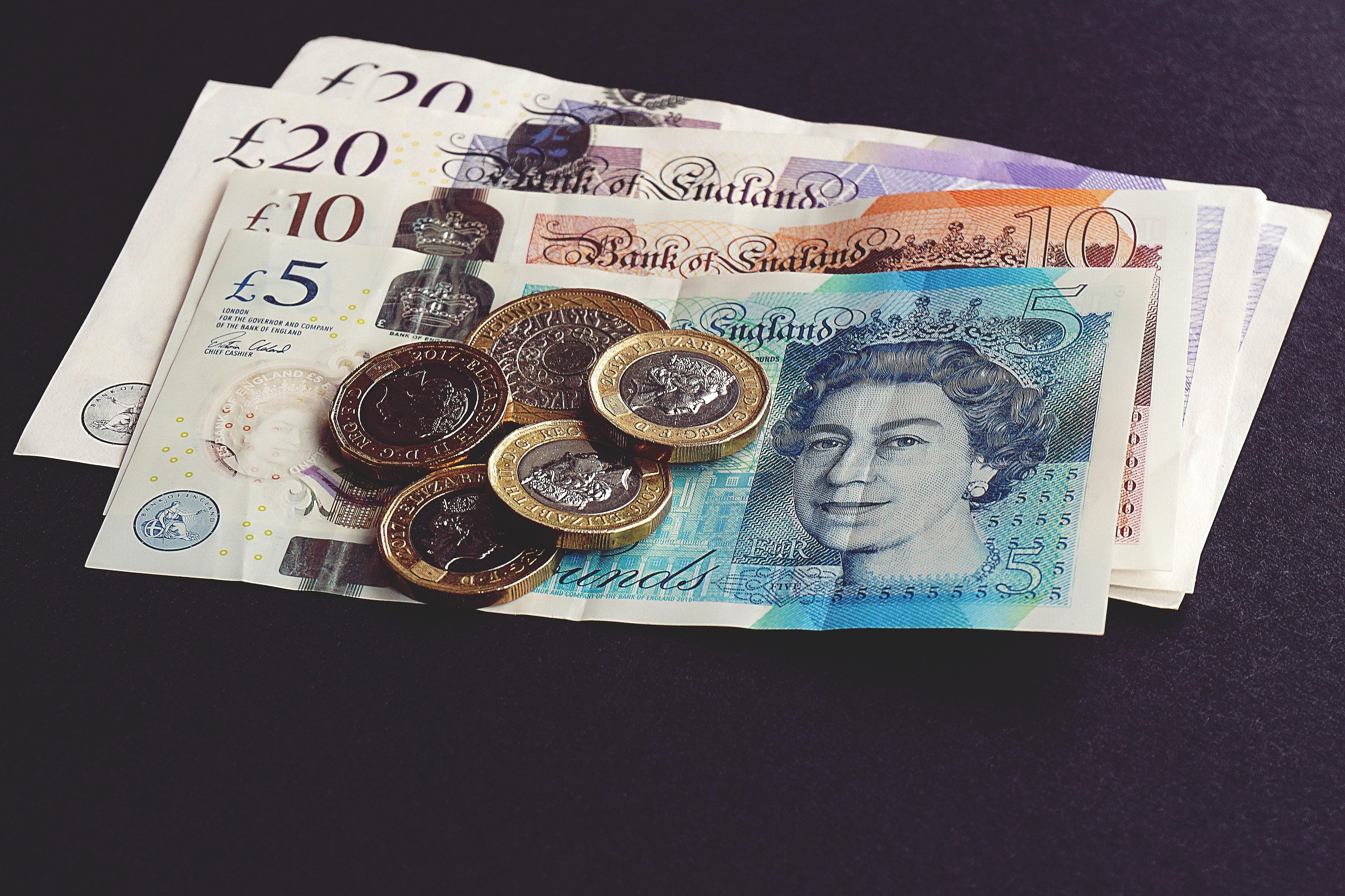 L'argent liquide connait un déclin au Royaume-Uni